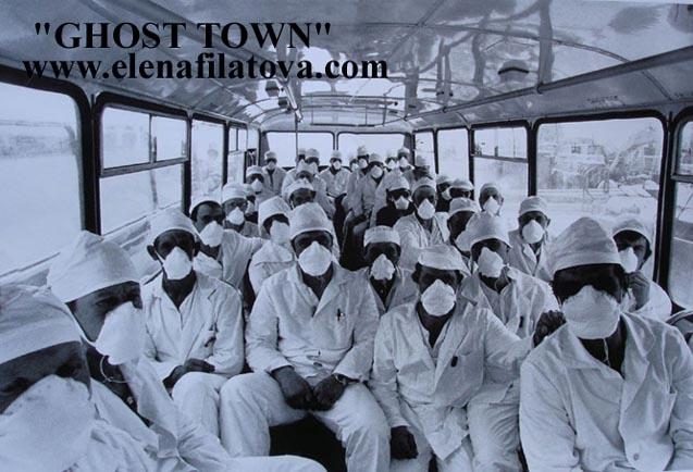 des liquidateurs en route pour Tchernobyl.